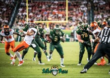 54 - Illinois vs. USF 2017 - USF RB D'Ernest Johnson Billy Atterbury by Dennis Akers | SoFloBulls.com (4551x3251)