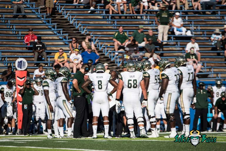 66 - USF vs. San Jose State 2017 - USF WR Tyre McCants Charlie Strong Mike Galati by Dennis Akers | SoFloBulls.com (4185x2794)