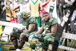 41 - USF vs. Houston 2017 - OL Eric Mayes Jeremi Hall by Dennis Akers | SoFloBulls.com (6016x4016)