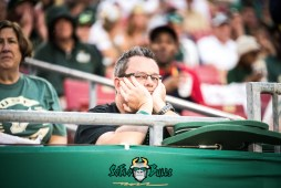 53 - USF vs. Houston 2017 - Depressed USF Fan in Crowd by Dennis Akers | SoFloBulls.com (6016x4016)