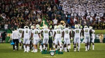 125 - Tulsa vs. USF 2017 - USF Team on Field at Raymond James Stadium Background Image by Dennis Akers | SoFloBulls.com (3824x2151)