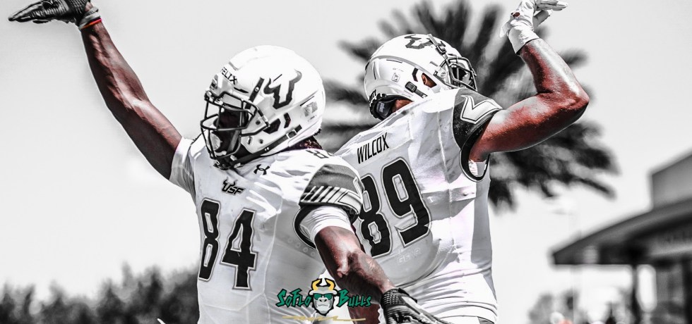 SoFloBulls.com 2018 USF Spring Game Highlights YouTube Cover Image by Dennis Akers Carmine Logo (2401x933)