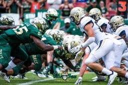 104 - Georgia Tech vs. USF 2018 - USF DL vs. Georgia Tech OL by Dennis Akers | SoFloBulls.com (6016x4016)