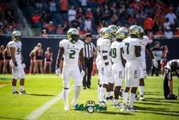 24 - USF vs. Illinois 2018 - USF LB Khalid McGee Ronnie Hoggins Mike Hampton by Dennis Akers | SoFloBulls.com (5238x3597)