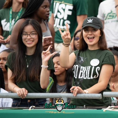 58 - Elon vs. USF 2018 - USF Fans in Crowd by Dennis Akers | SoFloBulls.com (2748x2748)