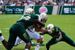 58 - Georgia Tech vs. USF 2018 - USF DB Ronnie Hoggins Kirk Livingstone by Dennis Akers | SoFloBulls.com (4690x3131)