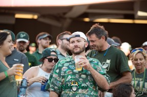 110 - USF vs. Illinois 2018 - USF Fan with dope shirt in crowd at Soldier Field by Dennis Akers | SoFloBulls.com (6016x4016)