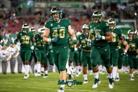 26 - USF vs. ECU 2018 - USF FB Riley Sheehan by Dennis Akers | SoFloBulls.com (5455x3642)