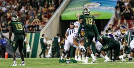 43A - USF vs. ECU 2018 - USF S Jaymon Thomas Ronnie Hoggins by Will Turner | SoFloBulls.com (4328x2226)