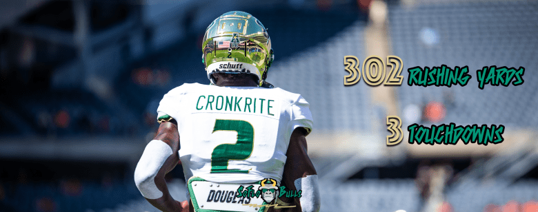 Jordan Cronkrite Rushes for Program, AAC Record as No. 23 USF Remains Undefeated by Matthew Manuri | SoFloBulls.com (1200x946)