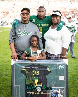 26 - UCF vs. USF 2018 - USF CB WR Chris Barr Senior Photo by Dennis Akers | SoFloBulls.com