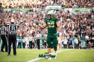 53 - UCF vs. USF 2018 - USF TE Mitchell Wilcox by Dennis Akers | SoFloBulls.com