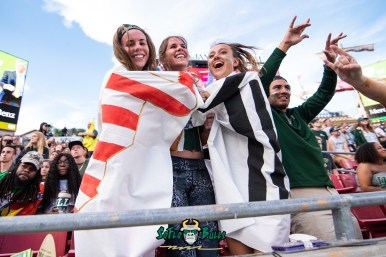 83 - Tulane vs. USF 2018 - USF Fans in Flags in Crowd at Raymond James Stadium by Dennis Akers | SoFloBulls.com (4706x3142)
