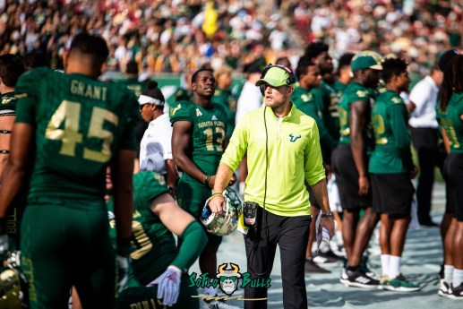 9 - Tulane vs. USF 2018 - USF Football Assistant Coach on Sideline by Dennis Akers | SoFloBulls.com (5340x3565)