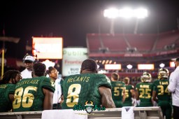 117 - Marshall vs. USF 2018 - USF WR Tyre McCants Stanley Clerveaux by Dennis Akers | SoFloBulls.com