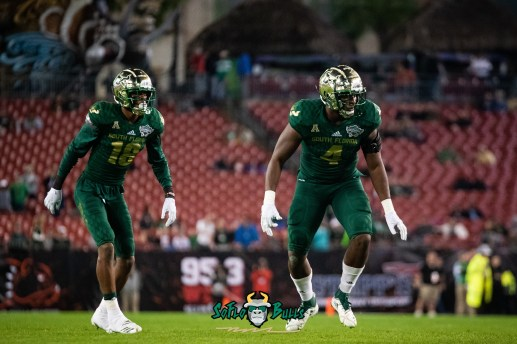 27 - Marshall vs. USF 2018 - USF S Jaymon Thomas Greg Reaves by Dennis Akers | SoFloBulls.com