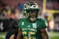 51 - Marshall vs. USF 2018 - USF WR Stanley Clerveaux by Dennis Akers   SoFloBulls.com