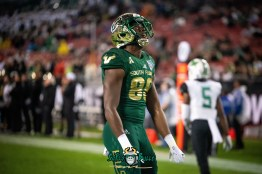 92 - Marshall vs. USF 2018 - USF WR Stanley Clerveaux by Dennis Akers | SoFloBulls.com