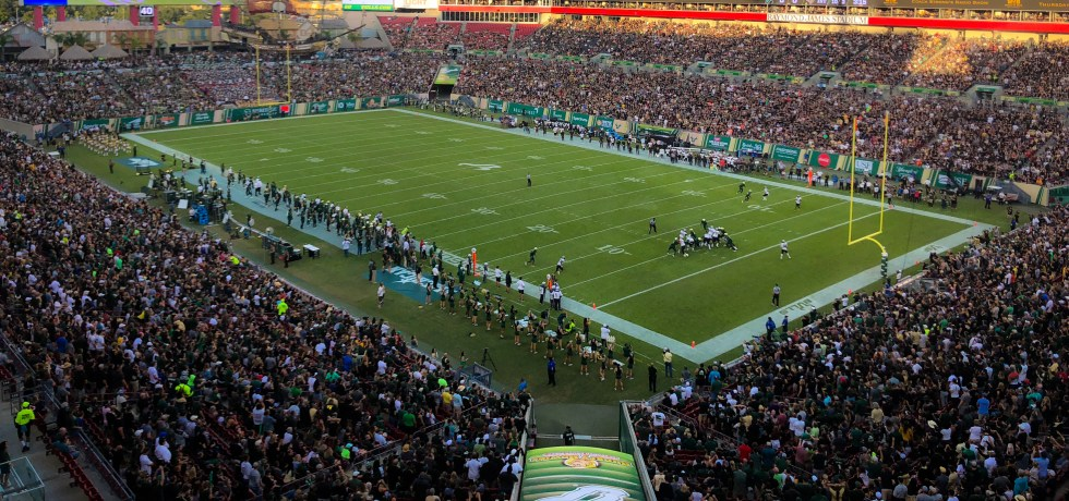 USF Football, Fall Sports See Spike in 2018 Student Attendance - UCF vs. USF 2018 by Matthew Manuri - SoFloBulls.com Edited (4022x1886)