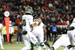 38 – USF vs. Cincinnati 2018 – USF QB Chris Oladokun by Will Turner – SoFloBulls.com – 0H8A1038