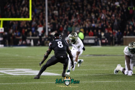 53 – USF vs. Cincinnati 2018 – USF QB Chris Oladokun by Will Turner – SoFloBulls.com – 0H8A1092