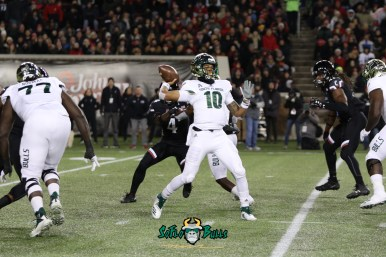 72 – USF vs. Cincinnati 2018 – USF QB Chris Oladokun by Will Turner – SoFloBulls.com – 0H8A1162