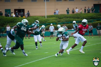105 - USF RB Johnny Ford Jordan McCloud Kelvi9n Pinkney Spring Game 2019 by Matthew Manuri 1384 (6016x4016)