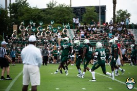 98 - USF Head Coach Charlie Strong watches as the defense celebrates Spring Game 2019 by Matthew Manuri 1363 (6016x4016)