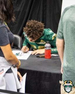 34 - USF DB Bentlee Sanders at Fan Fest 2019 by David Gold DRG03199