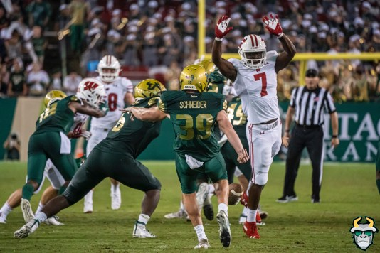 104 – Wisconsin vs USF 2019 – USF P Trent Schneider by David Gold – DRG06318