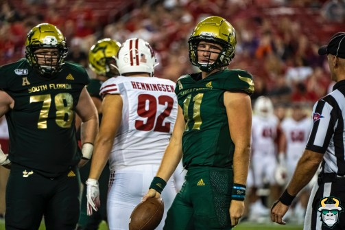 117 - Wisconsin vs USF 2019 - USF QB Blake Barnett by David Gold - DRG06687