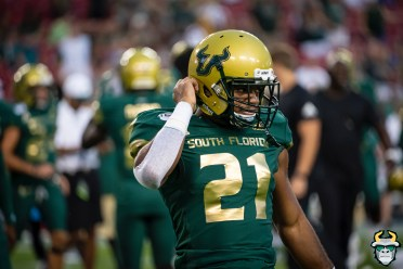 12 – Wisconsin vs USF 2019 – USF DB McArthur Burnett by David Gold – DRG04628