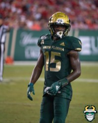 121 - Wisconsin vs USF 2019 - USF WR Jernard Phillips by David Gold - DRG06724