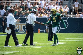 155 - USF vs Georgia Tech 2019 - KJ Sails Brian Jean-Mary Charlie Strong by David Gold - DRG09059