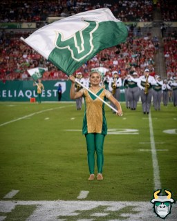 33 – Wisconsin vs USF 2019 – Flag Girl by David Gold – DRG05121
