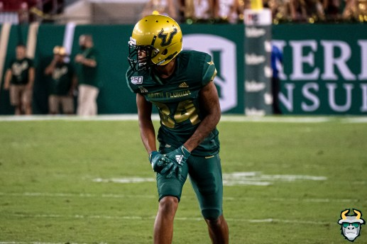 88 - USF vs S.C. State 2019 - Xavier Weaver by David Gold DRG01312