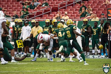 113 - SMU vs USF 2019 - Nick Roberts Devin Studstill Antonio Grier by David Gold - DRG01950
