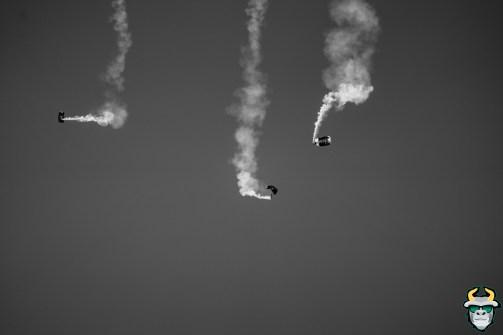 35 - BYU vs. USF 2019 - SOCOM Parachute B&W by David Gold - DRG00283