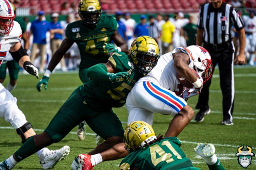 56 - SMU vs USF 2019 - Patrick Mascon Demaurez Bellamy by David Gold - DRG00585