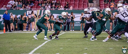 USF RB Dave Small and QB Kirk Rygol vs. No. 18 Memphis 2019