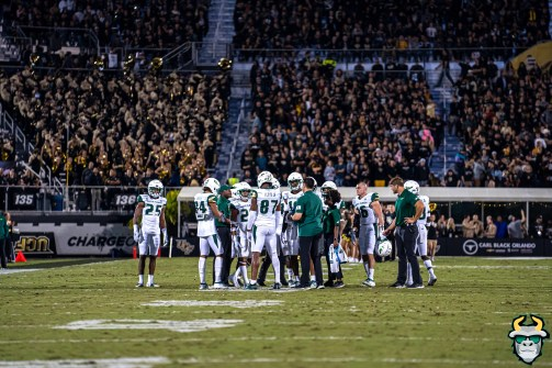 48 - USF vs. UCF 2019 - Bulls Team on field at Spectrum Stadium by David Gold - DRG05869