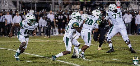 74 - USF vs. UCF 2019 - Jah'Quez Evans Johnny Ford Kelley Joiner by David Gold - DRG06432