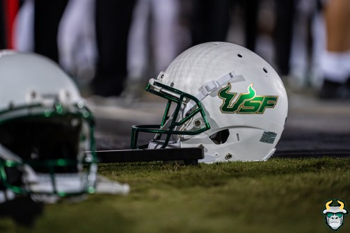 85 - USF vs. UCF 2019 - White USF Bulls Football Helmet by David Gold - DRG06693