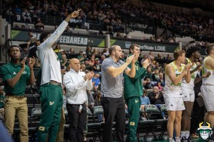 20 - UConn vs. South Florida Men's Basketball 2020 - Zach Houghton Alexis Yetna Cheer from the bench - DRG08955