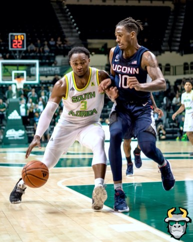 24 - UConn vs. South Florida Men's Basketball 2020 - Laquincy Rideau - DRG09031
