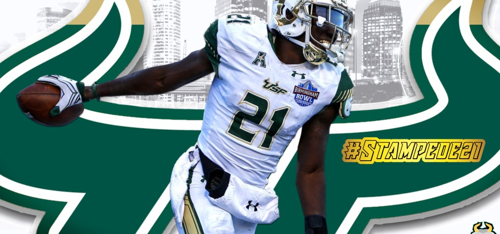 #Stampede21 USF Football Recruiting Class of 2021 Khalid McGee Featured Image