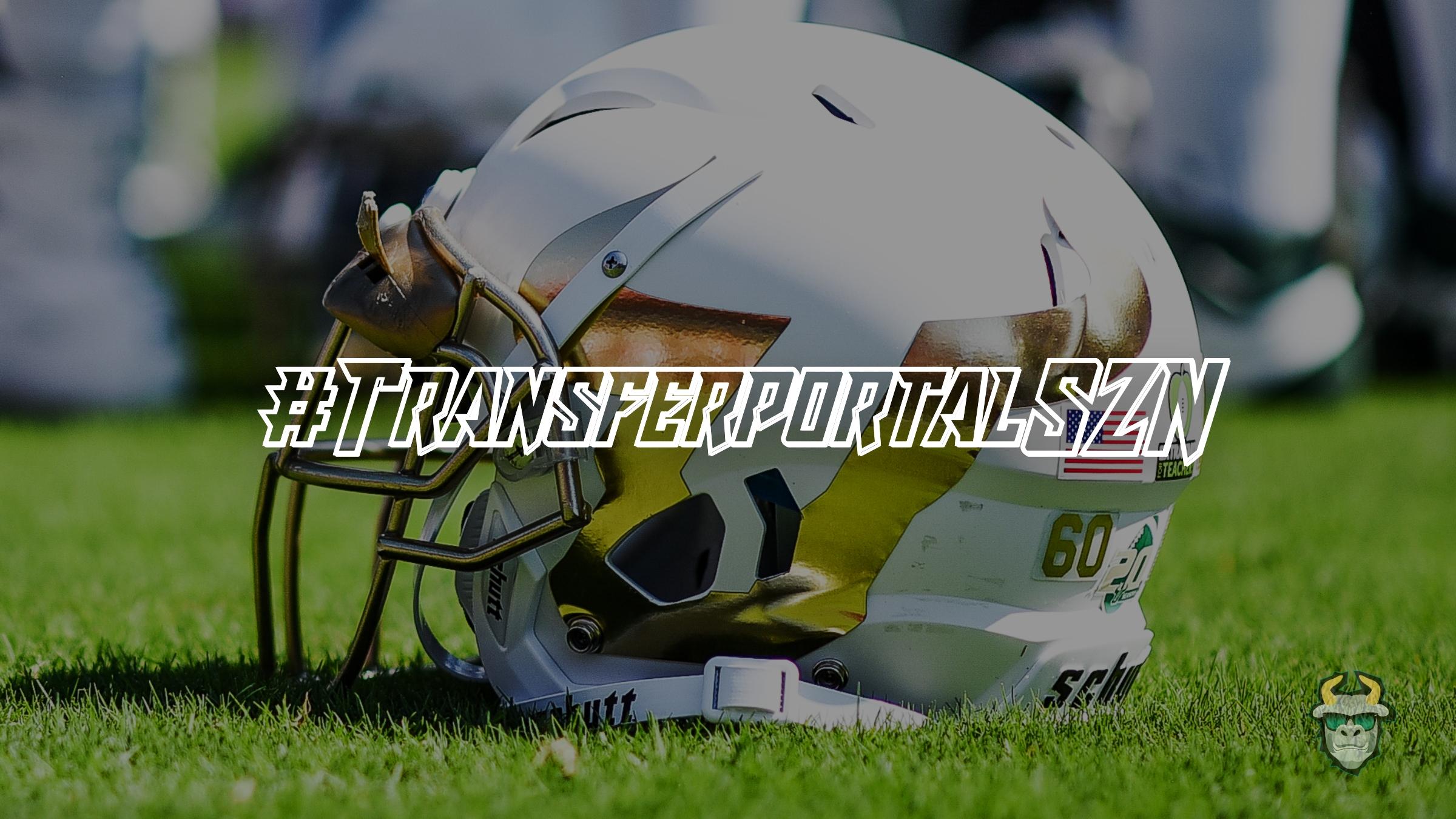 USF Football Helmet White Chrome U