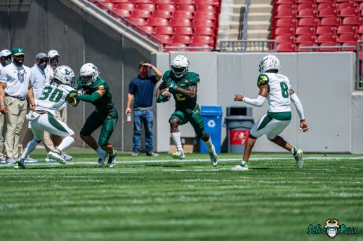 39 - USF Spring Game 2021 Darrian Felix Christopher Townsel Isaiah Cromarty Bryce Miller DRG06418