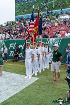 28 Florida vs USF 2021 - United States Servicemen National Anthem DRG01093