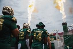 72 Florida vs USF 2021 - AJ Hamilton Ben Knox exit tunnel fire DA